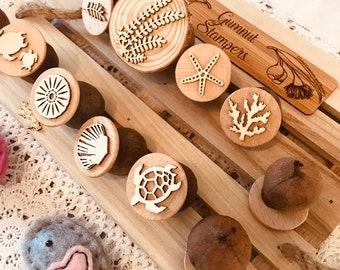 Gumnut Nature Stamps | Ocean Life Set | 8 pcs