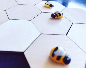 Wooden Mini Bees