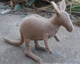 Australian Felt Kangaroo Animal