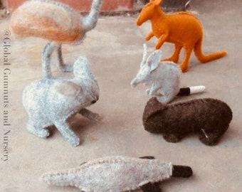 Australian Felt Animals - Individual