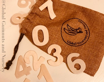 0-9 Wooden Numbers, set of 10