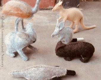 Australian Felt Animals ~ Set of 6