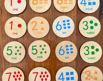 Wooden Disc's - Numbers | Game | Match