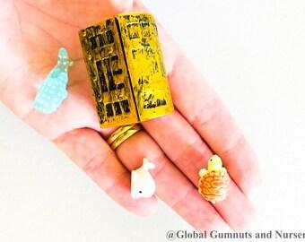 Treasure Chest, Dolphin, Whale, Turtle | Small World | Fairy Garden 4 pieces