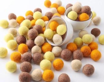 Felt Balls | Feltball | Bee scene colours
