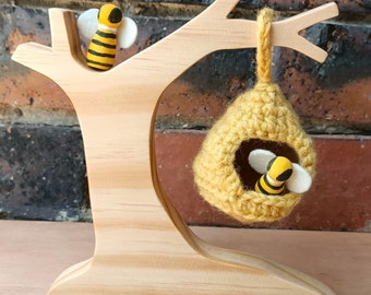 Natural Wooden Bee Hive Tree