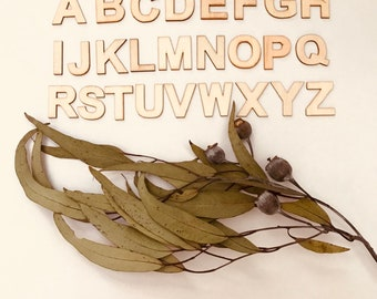 A - Z Wooden Letters