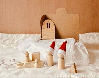 Christmas Set | Sleigh | Peg Doll | Snowman | Christmas Tree