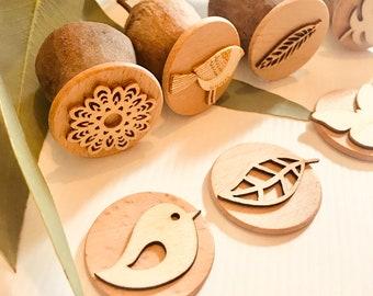 Gumnut Nature Stamps | Birds & Nature Set | 8 pieces