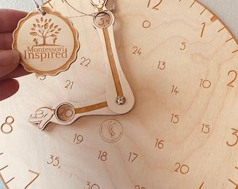 Wooden Clock | Teach the Time | 0'clock