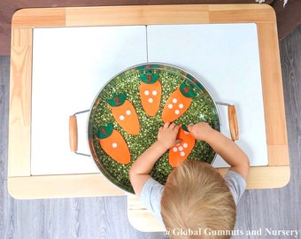 Counting Fabric Carrots 1-10