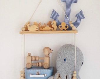 Wooden Ocean | Sea Animals, 10 piece