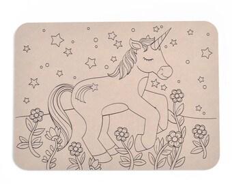 Playdough Boards | Mat | Unicorn