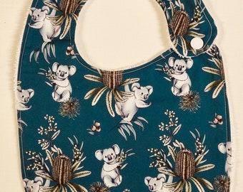 Koalas and Banksia's  - Handmade Luxury Quality Bib