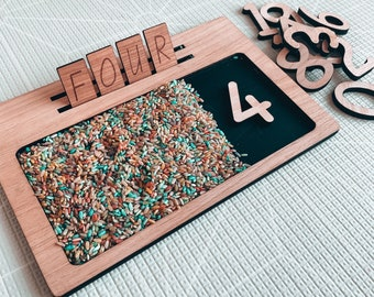 Numbers 0-20 Wooden Rectangle Tiles - NUMBER Learning Tools