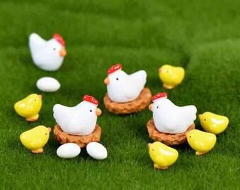 Resin Chickens & Chics Set