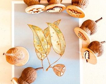 Gumnut Nature Stamps | Magical Garden | 7 pieces