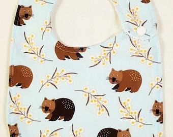 Wombats - Handmade Luxury Quality Bib
