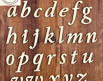 A - Z Lowercase Cursive Wooden Letters