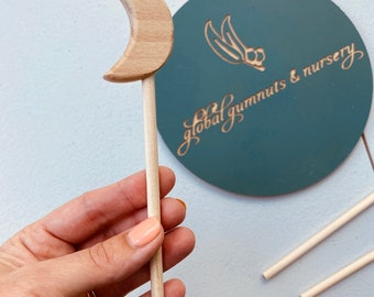 Wooden Moon Wands | Fairy | Frozen | Space | Rocket | Science | Party Favour