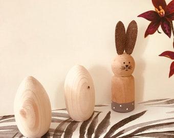 Flat Bottomed Wooden Eggs