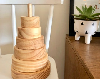 Natural Wooden Stacker