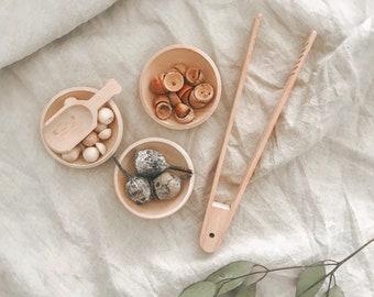 Tongs & Sorting Bowls