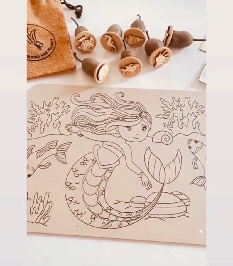 Seashells /& Friends 7 pieces Gumnuts Nature Stamp Set