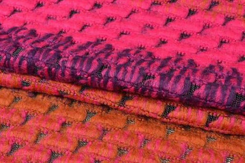 Imported 150  cm Wide ON SALE Gold Purple Pink Hombre Italian Woolen