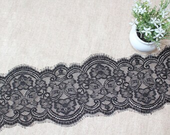 Beautiful Black French Chantilly   Lace - 16 cm  Wide, Imported