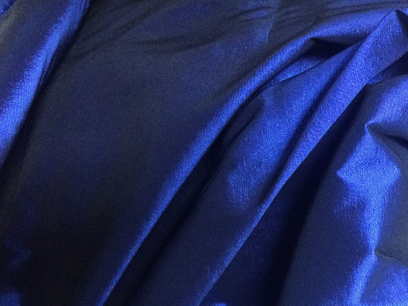 Imported. 150 cm Wide ON SALE Blue Double Sided French  Shantung Fabric