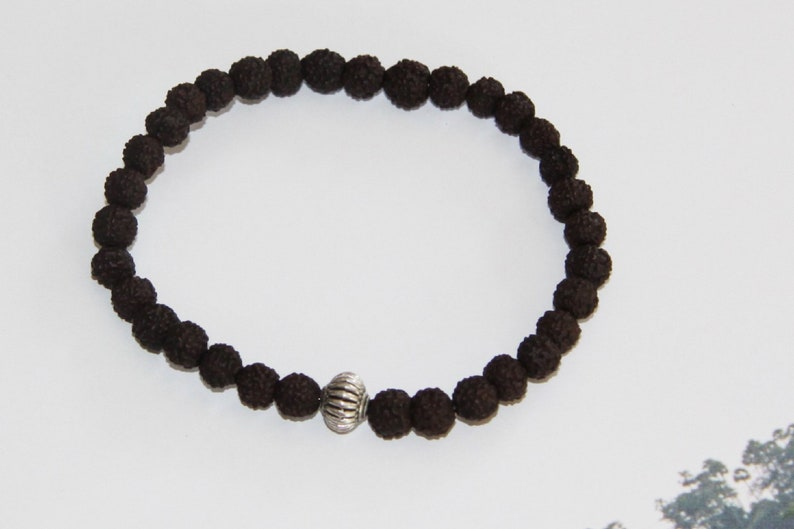 Rudraksha seads bracelet.