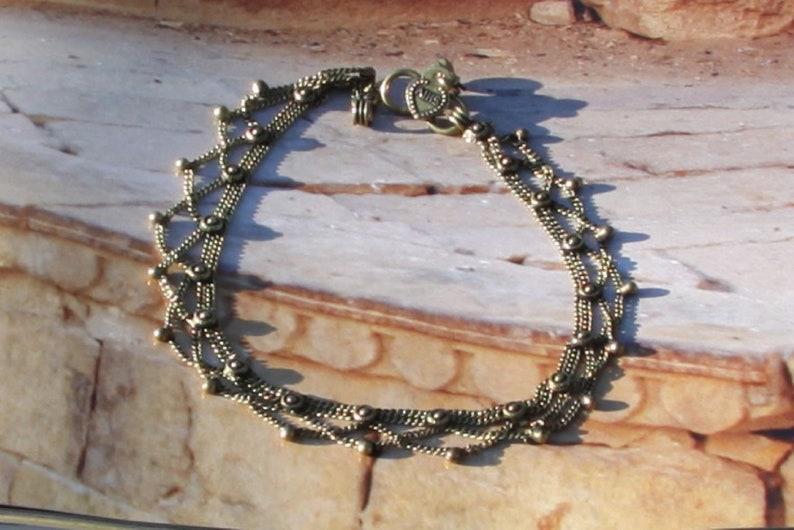 Ankle Brass foot bracelet