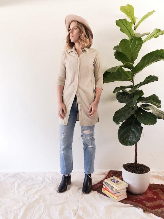 Vintage 90s Linen Blend Tunic // XS