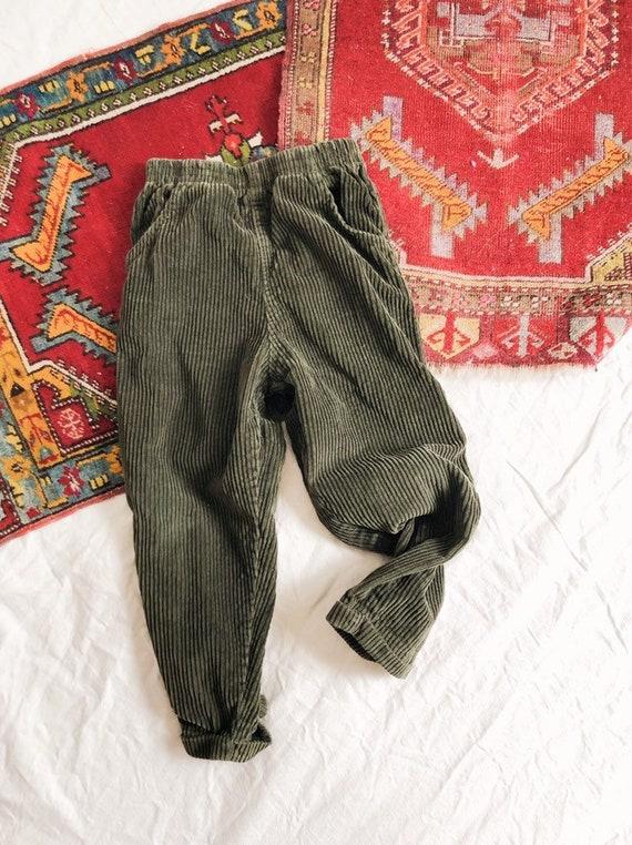 Vintage 1990s Corduroy Kids Pants / 6