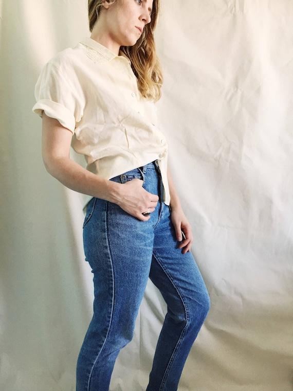 Vintage Abercrombie & Fitch Linen Shirt //  XLarge