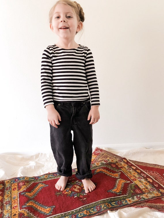 Vintage Black Toddler Jeans // 4/5T
