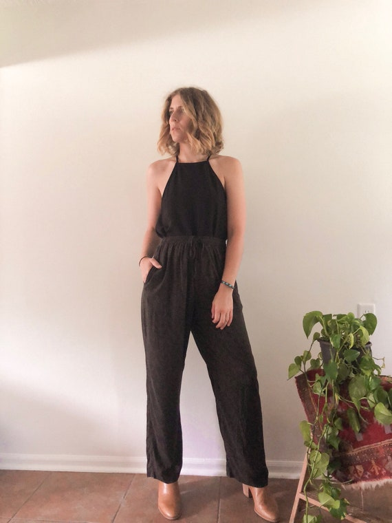 Patterned High Rise Pants // S/M