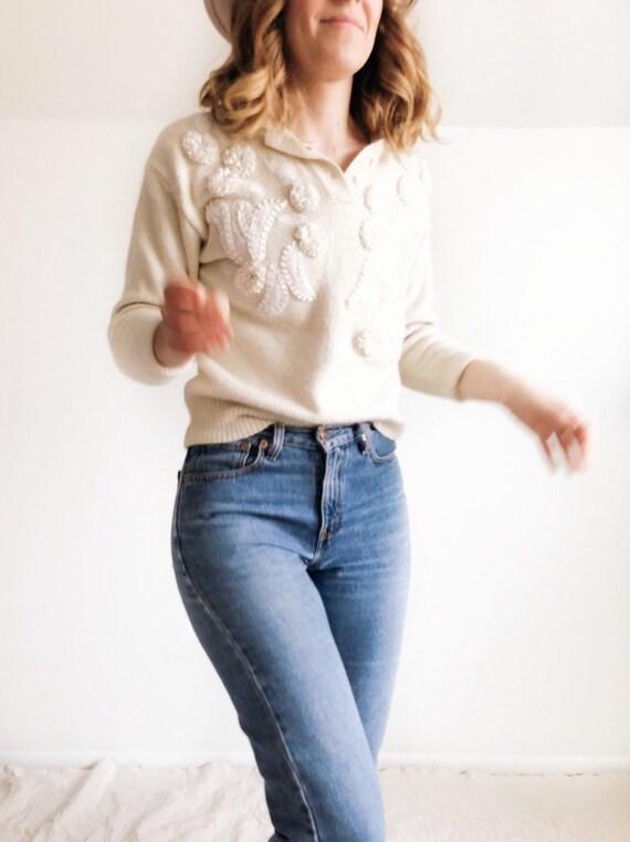 Vintage 1980s Silk Blend Sweater // S