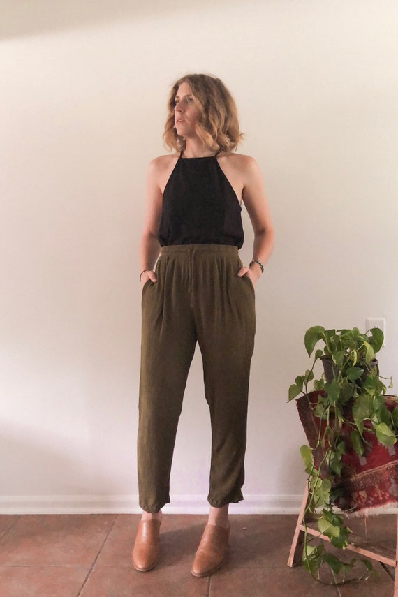 Vintage Drawstring Pants // S