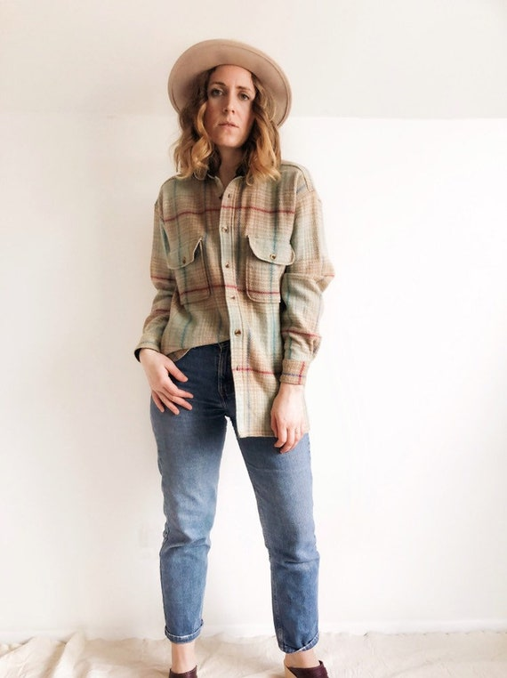 Vintage Wool Flannel // L