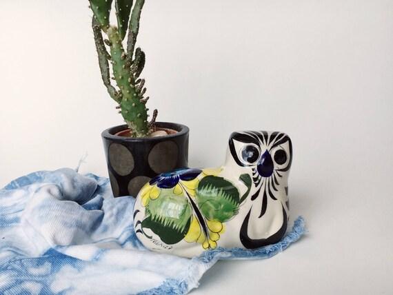 Handpainted Meixcan Ceramic Floral Cat