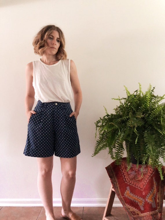 Vintage polka dot shorts // 26