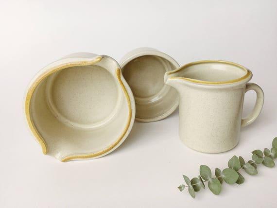 Garden Festival Japanese Stoneware Stacked Creamer, Bowl and Gravy Boat