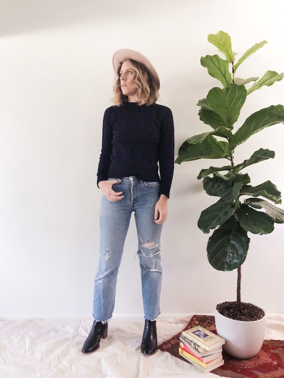 Vintage Indigo Sweater // Small