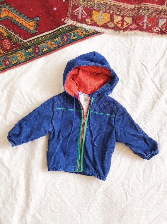 Vintage 1980s Corduroy Winne The Pooh Jacket / 6-9 months