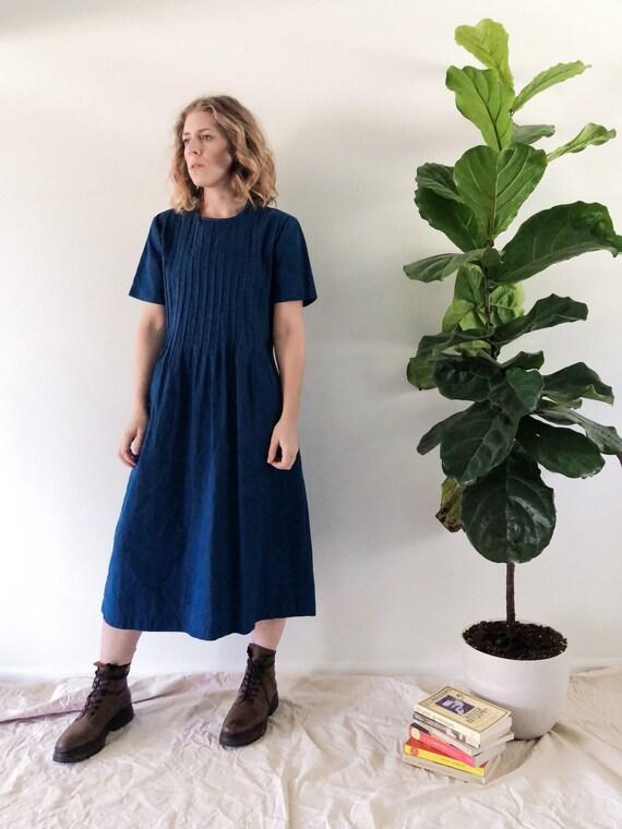 Vintage Indigo Dress // M/L