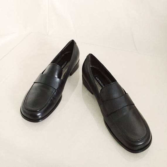 Vintage Leather Loafers // 8.5