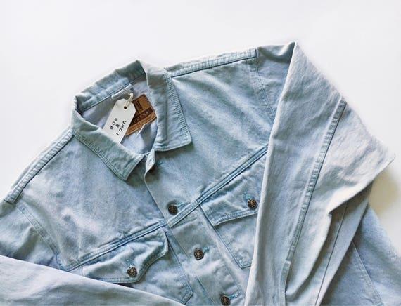 Vintage Oversized Denim Jacket // L