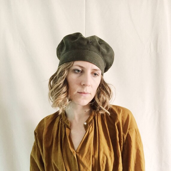 Military Style Beret // 6 7/8